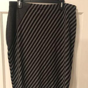 Ladies black and grey skirt .. elastic waist XL